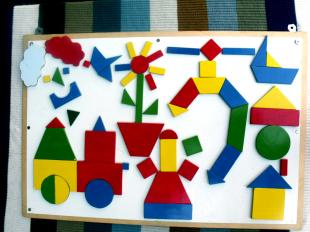Puzzle Elemente mit Magnet